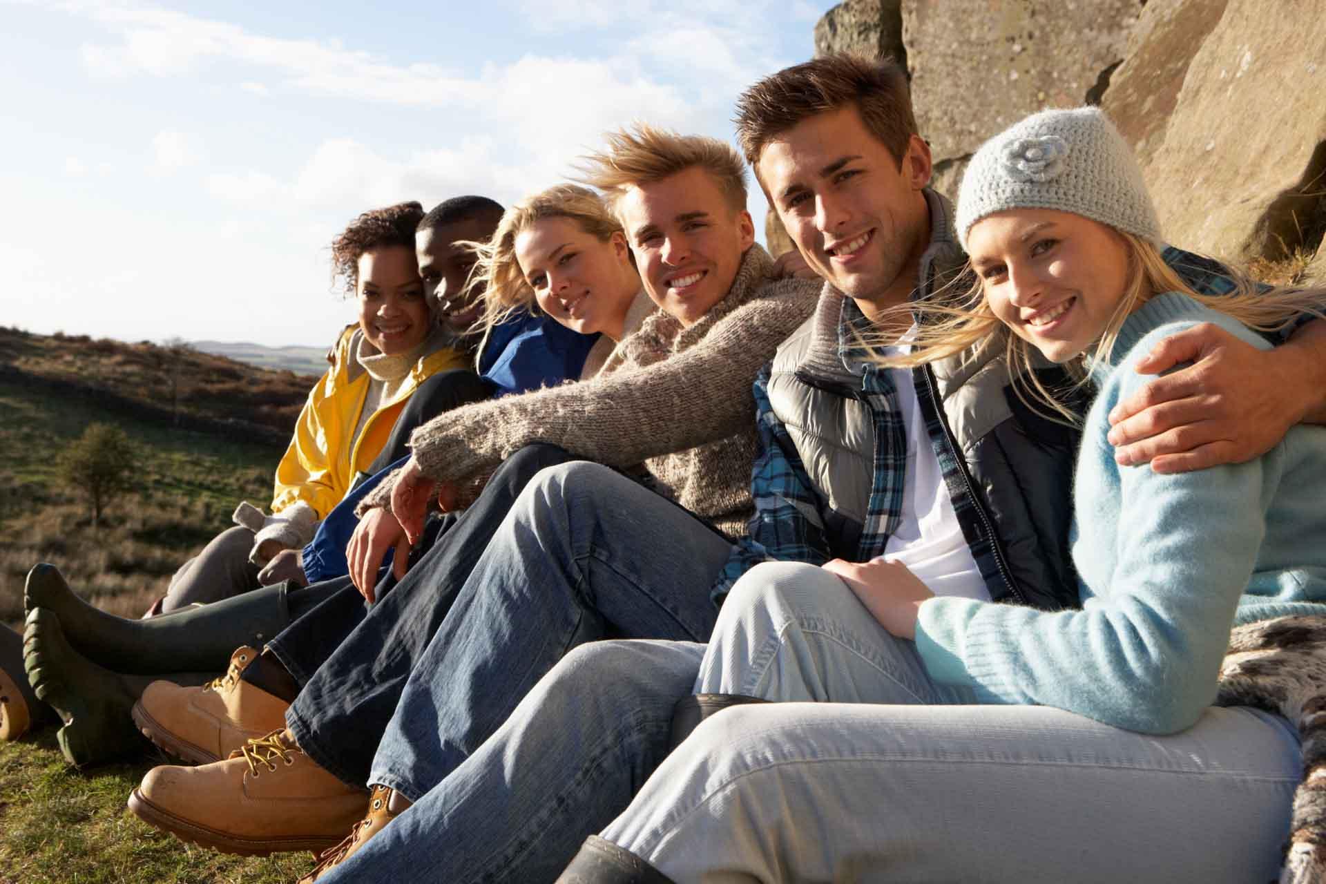 Jugendliche Treffen, Freizeit verbringen